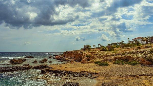 Rocky Coast, Nature, Sea, Shore, Landscape, Villa