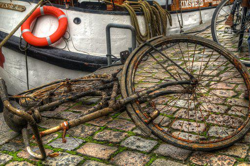 Bicycle, Canal, Groningen, Street Scene, Town, Center