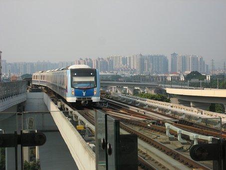 Guangzhou, Metro, Canton, Train, Transportation