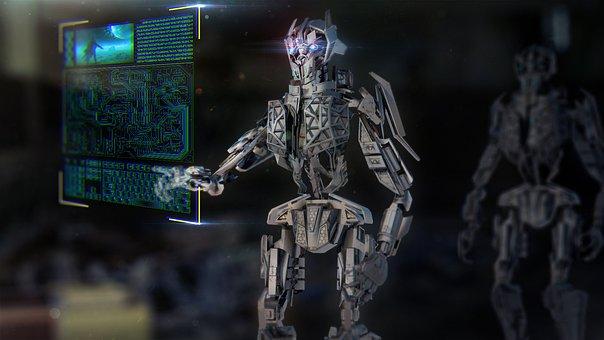 Robot, Mech, Machine, Technology, Urban, Ai