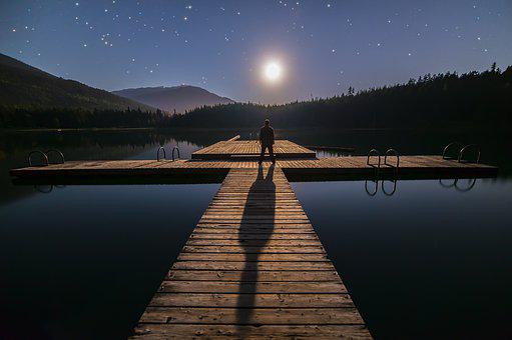 Alone, Astronomy, Blue, British Columbia, Canada, Deck