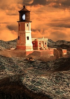 Lighthouse, Daymark, Shipping, Beacon, Signal, Tower