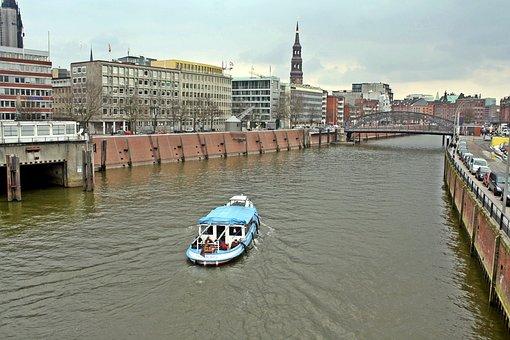 Harbour Cruise, Boatrent, Hamburg, Speicherstadt