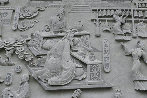Taiwan, Image, Relief, Buddhism, China, Taoism, Temple