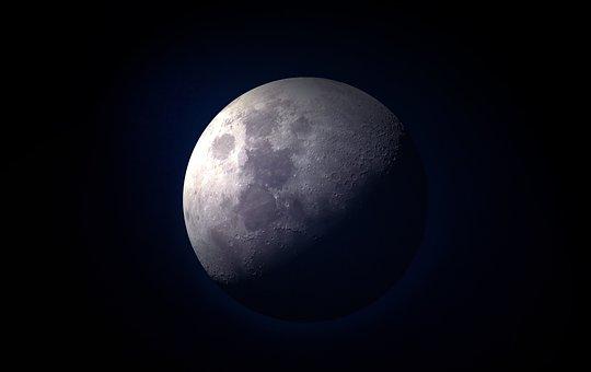 Moon, Full Moon, Moonlight, Close, Sky, Night