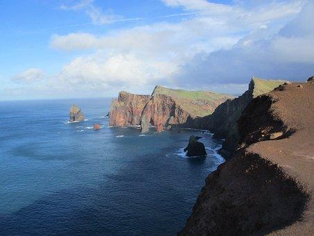 Madeira, Island, Coast, Portugal