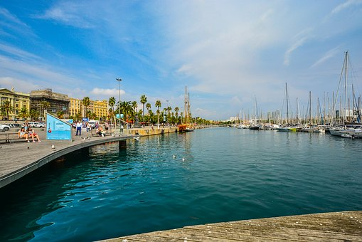 Barcelona, Spain, Spanish, Sea, Mediterranean, Coastal