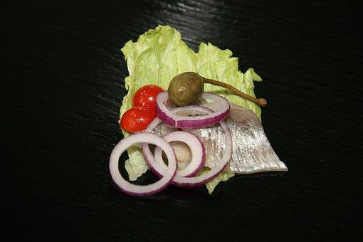 Herring, Marinated Herring, Onion, Salad, Food, Dining