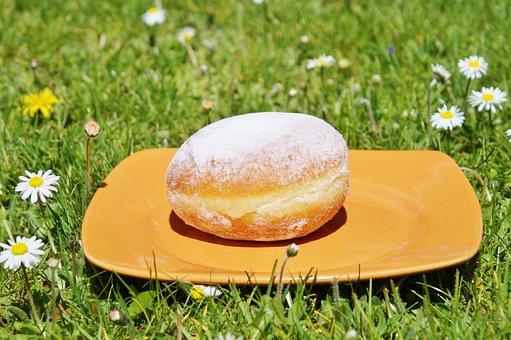 Donut, Berlin, Carnival, Sugar, Food, Eat, Baked Goods