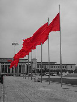 China, Flag, Flags, Socialism, Blow, Flutter, Flagpole