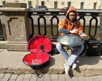 Street, Musician, Glucopon, Music, Street Musician