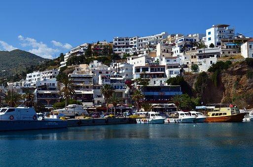 Crete, Agia Galini, Sea, Holiday, Greek Island, Resort