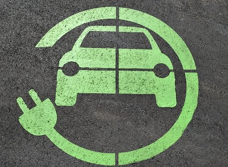 Electric Charge, Road Sign, Sign, Hybrid, Automobile