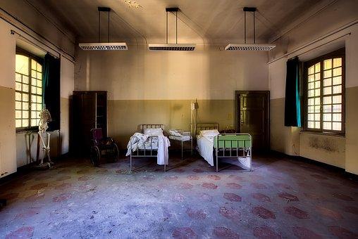 Hospital, Room, Inside, Indoors, Interior, Abandoned