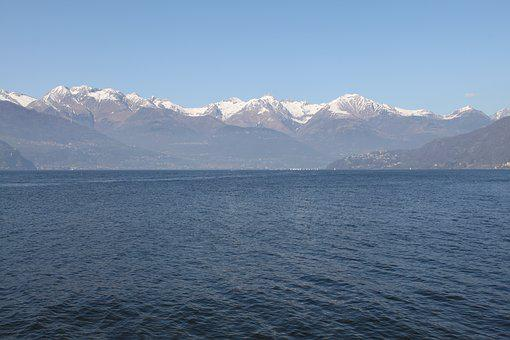 Lago Como, Italia, The Alps, Lake, Mountains, View
