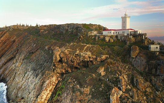 Lighthouse, Landmark, Mosselbay, Ridge, Ocean, Warning