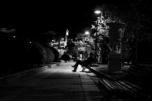 Loneliness, Silence, Park, Dark, Darkness, Zen