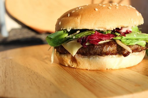 Burger, Eat, Hamburger, Fast Food, Roll, Grill, Meat