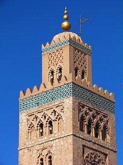 Morocco, Marrakech, Minaret, Mosque
