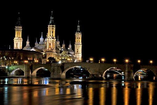 Bridge, Light, Architecture, Night, Church, Cathedral