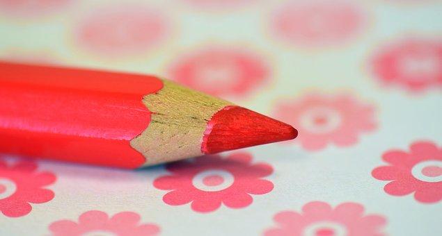 Pen, Wood Pen, Pink, Floral, Beautiful, Paint, Map