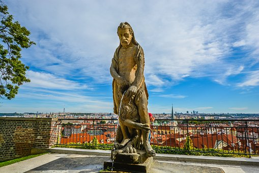 Prague, Statue, Lion, Water, Stream, Mouth, Open, Wide