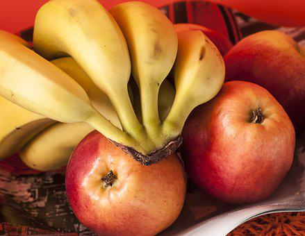 Fruit, Apples, Bananas, Food, Fruits, Foods, Red Apple