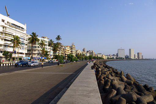 Marine Drive, Boulevard, South Mumbai, Sea, Arabian