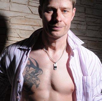 Man, Portrait, Tattoo, Sexy, Male, Tattooed, Muscular