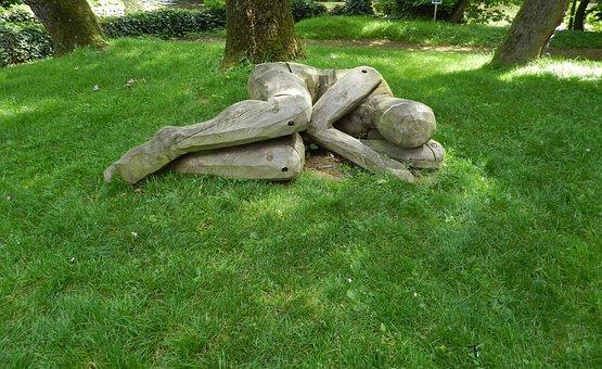 Sculpture, Wood, Nature, Green, Sleep, Character