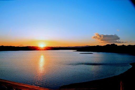 Sunset, Sky, Japan, Cloud, At Dusk, Sun, Water, Light