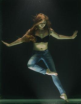 Underwater, Fashion, Art, Model, Fiction, Woman, Breath