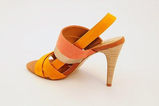 Shoe, From, Corner, Yellow, Women's Shoes, High Heels