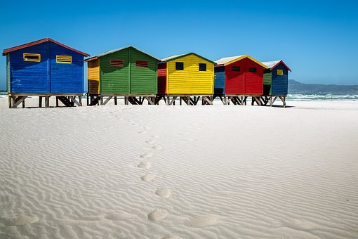 Muizenberg, Beach House, Africa, South Africa