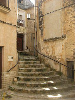 Bocairente, City, Stairs, Architecture, Old