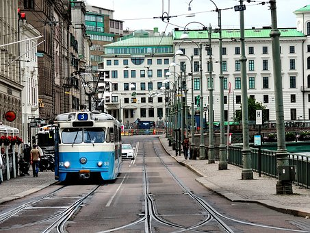 Göteborgtram, Gothenburg, Tram, Blue Tram, Sweden