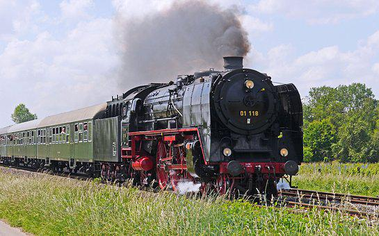 Steam Locomotive, Voildampf, Express Train, Br01, Br 01
