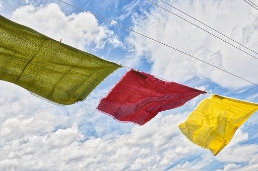 Cloths Line, Tablecloth, Tablecloths, Wind, Breeze, Dry