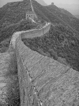 China, Wall, Great Wall Of China, Beijing, Great Wall