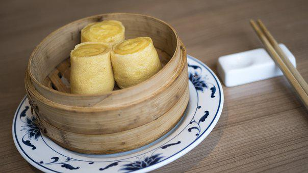 Eat, Dimsum, Cantonese, Chopsticks, Table, Chinese, Egg