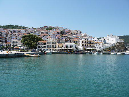 Skopelos, Christos, Town, Greece, Church, Architecture