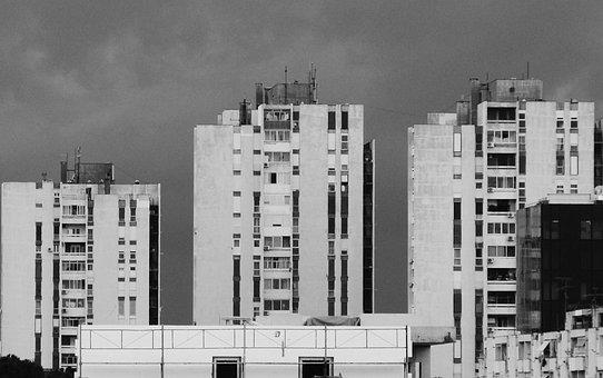 Black And White, Urban, City, Architecture, Building