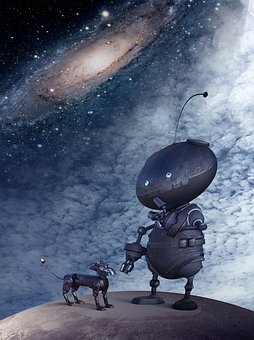 Home, Lost, Alone, Cosmos, Robot, Space Walk, Mood