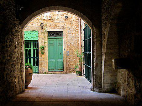Door, Green, Beziers, France, Languedoc