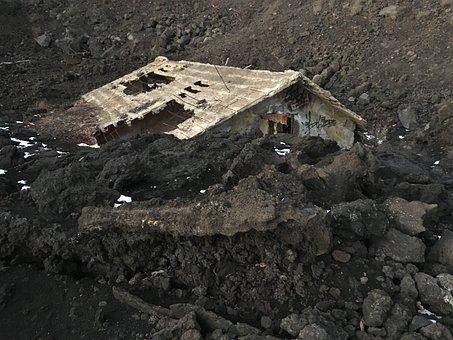 Volcano, Volcanic Eruption, Etna, Lava, House Shed