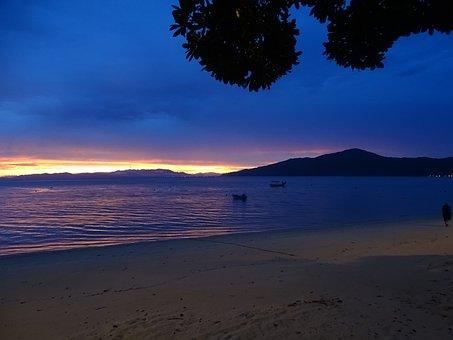 Eventide, Sunset, Landscape, Horizon, Clouds, Nature