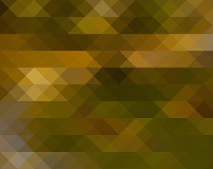 Abstract, Triangle, Olive, Green, Yellow, Trigone