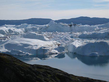 Icebergs, Jakobshavn, Greenland, The Icefjord