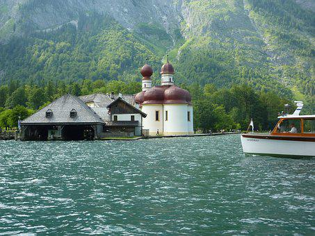Saint Batholomä, King Lake, Bavaria, Kirchlein