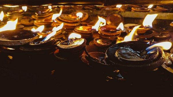Lights, Earthenlamp, Lamp, Festivals, India, Culture